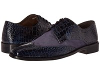 Stacy Adams Arturo Leather Sole Wingtip Oxford Dark Blue Men's Lace Up Wing Tip Shoes