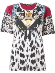 Roberto Cavalli Animal Patchwork T Shirt Multicolour