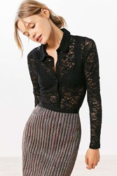 Cooperative Astarte Lace Button Down Shirt Black
