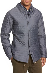 Relwen Snap Front Down Jacket Steel Navy