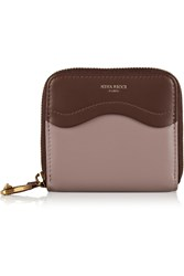 Nina Ricci Two Tone Leather Wallet Brown