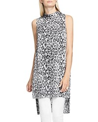 Vince Camuto High Low Leopard Print Tunic Rich Black