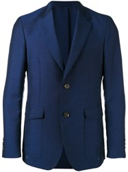Salvatore Ferragamo Two Button Blazer Blue