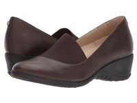 Hush Puppies Odell Elastic Pump Dark Brown Leather Wedge Shoes