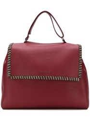 Orciani Oversized Chain Trim Tote A Red