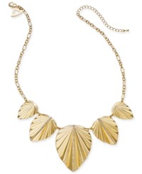 Thalia Sodi Gold Tone Palm Leaf Statement Necklace 17 3 Extension