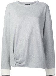 Rag And Bone Twist Detail Sweatshirt Grey