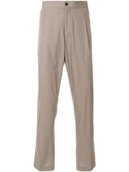 Salvatore Ferragamo Elasticated Waist Trousers Brown