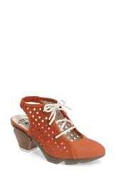 Fly London Women's Ozie Lace Up Pump Orange Leather