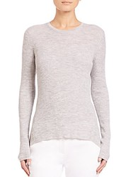 Theory Ellyna Crewneck Sweater Frosted Grey