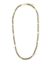 Dina Mackney Pyrite Beaded Necklace 36 Gold