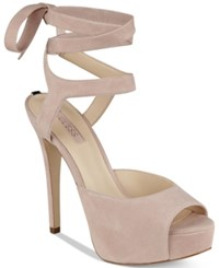 Guess Women's Kassie Wrap Around Dress Sandals Women's Shoes Light Pink