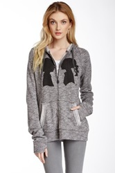 Boy Meets Girl Coco Zip Hoodie Gray