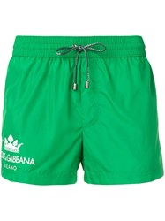 Dolce And Gabbana Short Swimming Trunks Green
