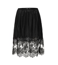 Stella Mccartney Lace Trimmed Skirt Black