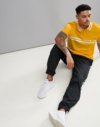 Lacoste Sport Zip Neck Polo Shirt In Mustard Yellow