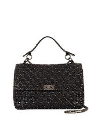 Valentino Rockstud Spiked Large Chain Bag Black