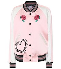 Coach X Keith Haring Reversible Bomber Jacket Pink
