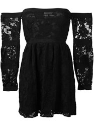 For Love And Lemons Strapless Flared Dress Black
