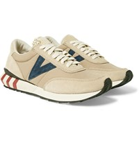 Visvim Attica Suede Trimmed Nylon Sneakers Brown
