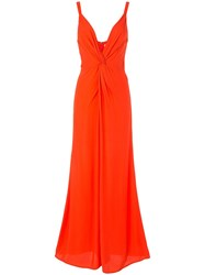 Ginger And Smart Orphic Twisted Front Jumpsuit Red