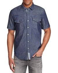 Blank Denim Regular Fit Snap Front Shirt Blue