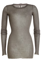 Rick Owens Long Sleeved Cotton Top