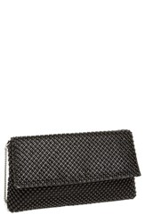 Nina Beaded Mesh Clutch Black