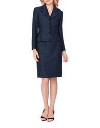Tahari By Arthur S. Levine Two Piece Traditional Skirt And Suit Set Navy Black