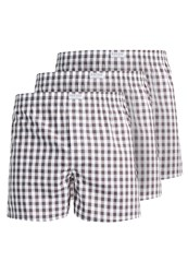 Pier One Gingham 3 Pack Boxer Shorts Grey