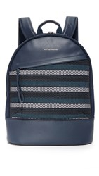 Want Les Essentiels Kastrup 13 Backpack Blue Stripe Cord Navy