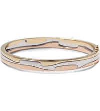 Georg Jensen Fusion 18Ct Yellow White And Rose Gold Bangle Rose Gold And White