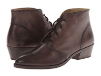 Frye Ruby Chukka Charcoal Vintage Leather Women's Lace Up Boots Taupe