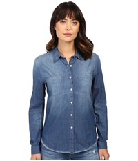 Joe's Jeans Mila Shirt Medium Stonewash Women's Clothing Navy