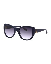 Nina Ricci Cat Eye Acetate Sunglasses Blue