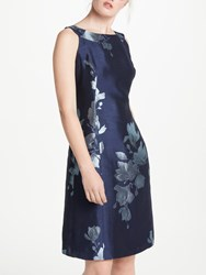 Bruce By Bruce Oldfield Jacquard Fit And Flare Dress Navy