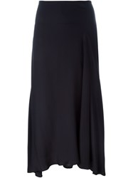 Theory Flared Midi Skirt Blue