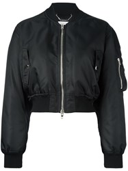 Givenchy Cropped Bomber Jacket Black