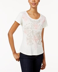 Styleandco. Style Co. Petite Graphic T Shirt Only At Macy's Coconut