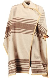 By Malene Birger Moniama Leather Trimmed Wool Cape Nude