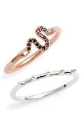 Topshop Women's Two Pack Snake And Spike Rings