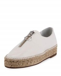 Alexander Wang Devon Zip Front Espadrille Flat Optic White