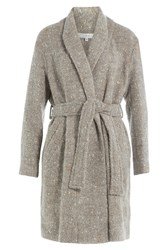 Iro Coat With Wool Alpaca And Mohair Grey