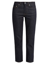 Acne Studios Row Relaxed Cropped Jeans Indigo