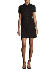 Cynthia Steffe Marni Button Front Dress Rich Black