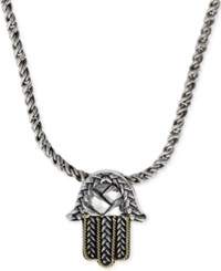 Effy Collection Balissima By Effy Hamsa Pendant Necklace In Sterling Silver And 18K Gold