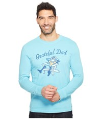 Life Is Good Grateful Dad Adirondack Long Sleeve Crusher Tee Bleached Blue Men's T Shirt