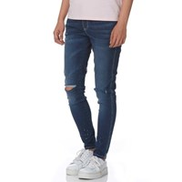 Evisu Super Skinny Fit Denim Jeans With Seagull And Logo Motif Print