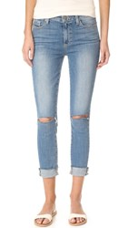 Paige Hoxton Crop Skinny Jeans Bella Destructed