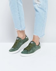 Diadora Game Low Trainers In Khaki Suede Green Olivina